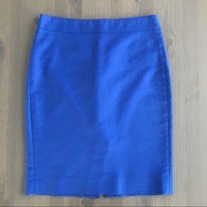 J. Crew Blue No. 2 Pencil Skirt, 2